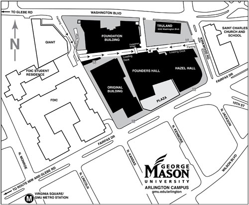 Arlington Campus Map