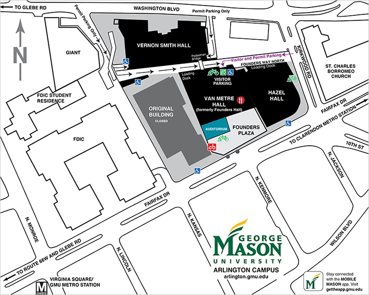George Mason University Campus Map Directions to the Law School | Antonin Scalia Law School