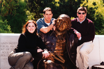 Mason Law Students at George Mason Memorial on the Mall in Washington, D.C.