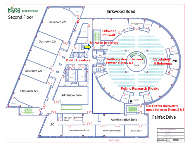 Map of Law School Second Floor