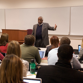 U.S. Supreme Court Justice Clarence Thomas in the classroom