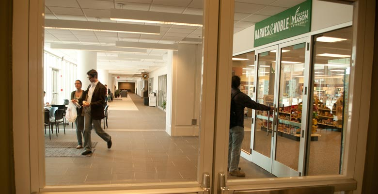 Entering Founders Hall from the Levy Atrium